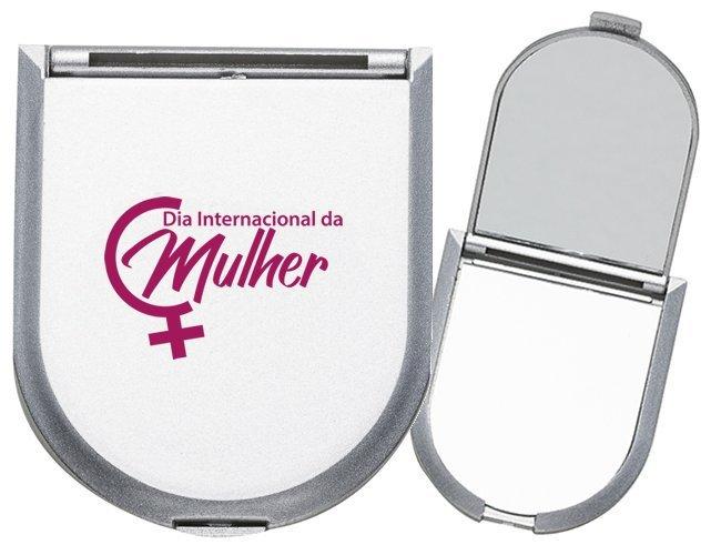 Espelho Plástico Duplo Com Aumento MOdelo INF 10086
