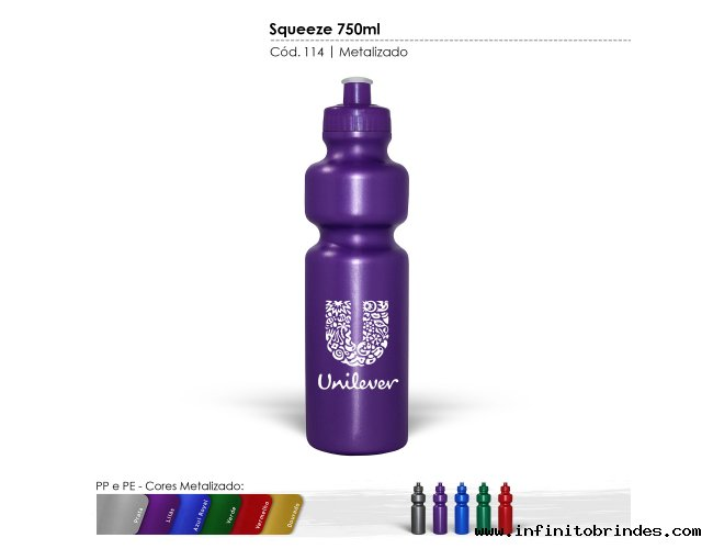SQUEEZE PLÁSTICO (750ml) - INF 0114
