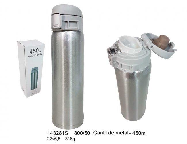 Cantil de Metal 450ml - Modelo INF 143281 cores