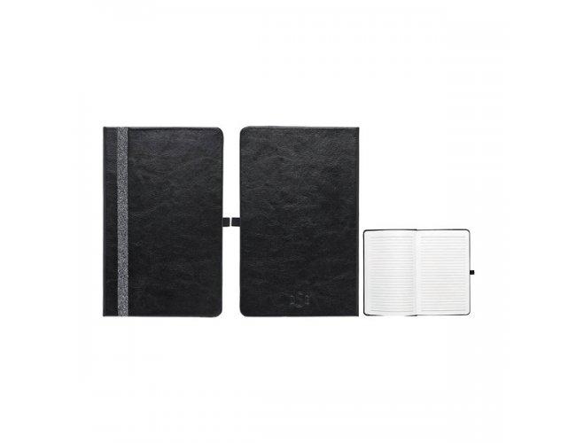 Caderno capa dura. C. sintético. 100 folhas pautadas Modelo INF 43028
