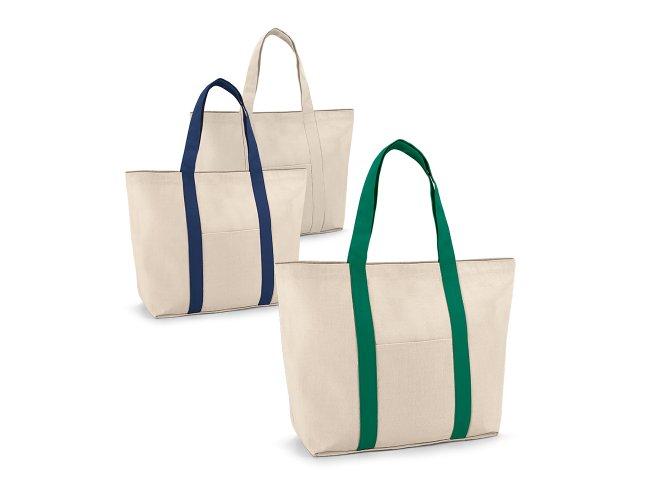 Sacola. 100% algodão canvas: 280 g/m². Bolso bolso frontal Modelo INF 92824 53 x 38
