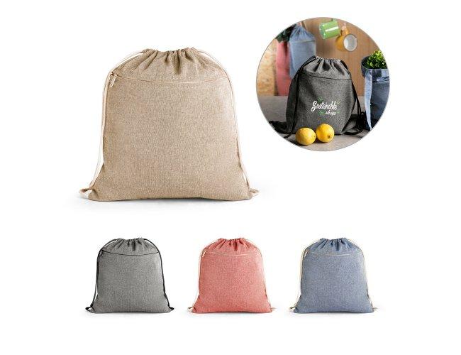 Sacola tipo mochila em algodão reciclado Modelo INF 92928