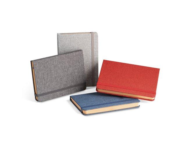Caderno A5 com capa dura em RPET
