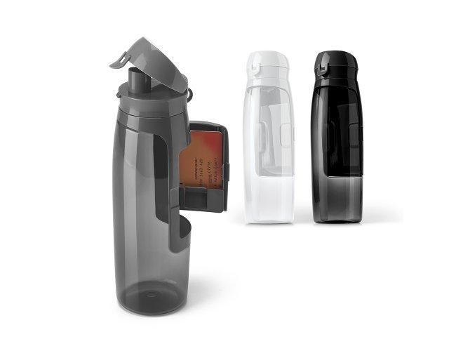 Squeeze. Tritan™. Com compartimento para cartões, chaves e dinheiro Modelo INF 94620