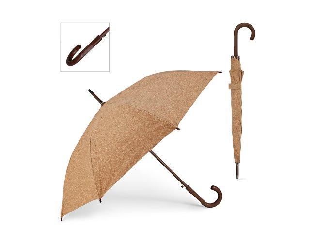 Guarda-chuva de Cortiça. Haste e pega em madeira Modelo INF 99141
