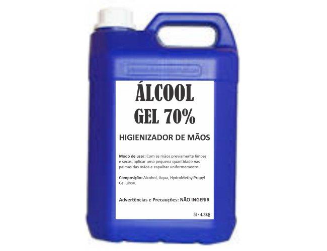 Galão de Álcool Gel com 5 litros - Modelo INF 287