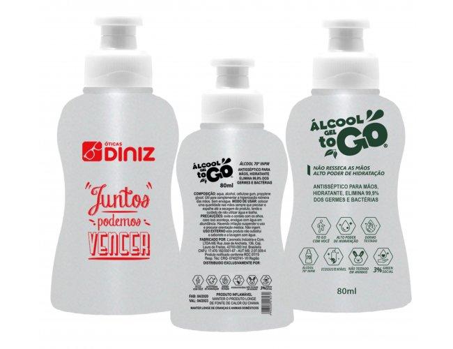 Alcool Gel 70 ToGo 80mL - Modelo INF 102G