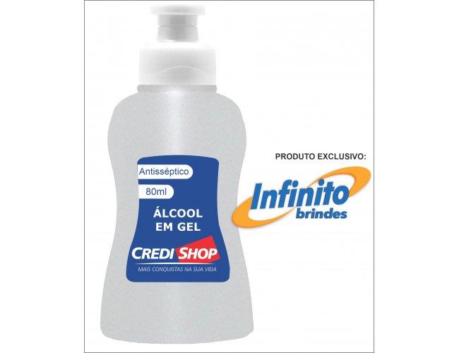 Álcool Gel 80ml Personalizado Modelo INF 285