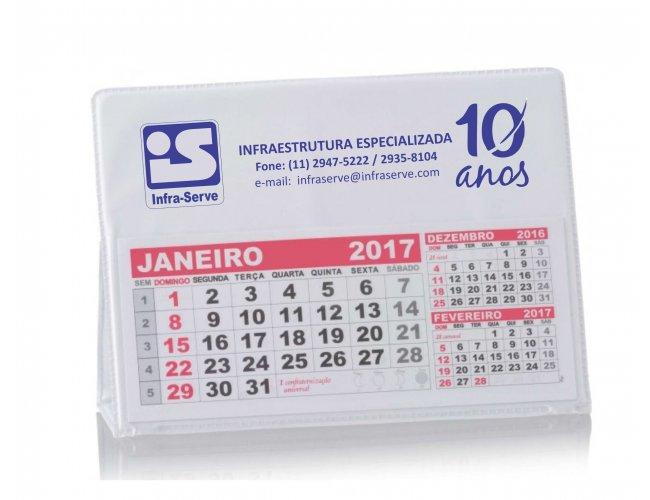 Calendário de Mesa Grande Branco - Modelo INF 40L