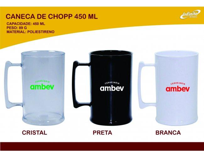 Caneca de Chopp 450ml - Modelo INF 0006F