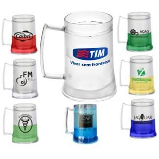 CANECA DE CHOPP COM GEL - INF 1323  400ml