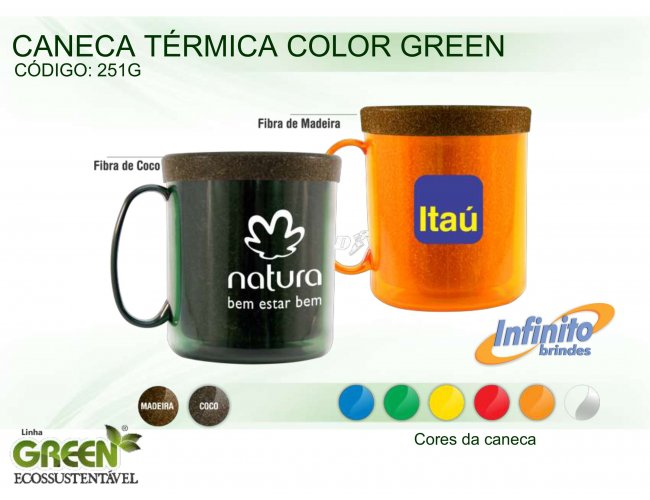 CANECA TÉRMICA COLOR GREEN (300ml) - INF G0251