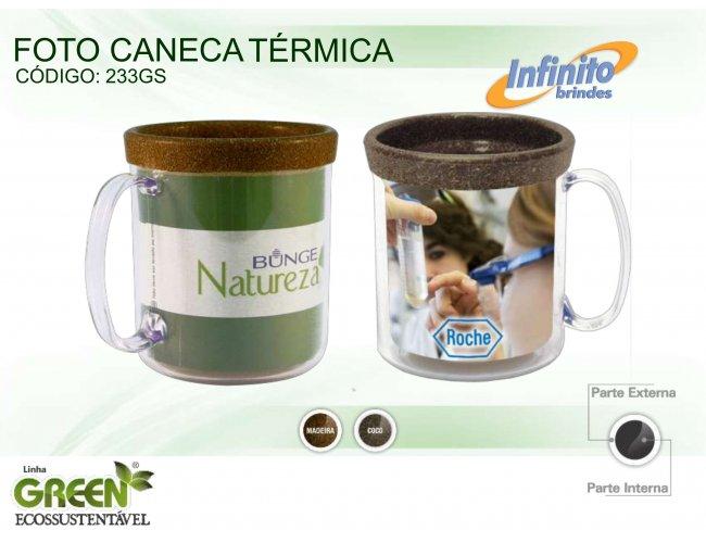 CANECA FOTO TÉRMICA GREEN (300 Ml) - INF G0233