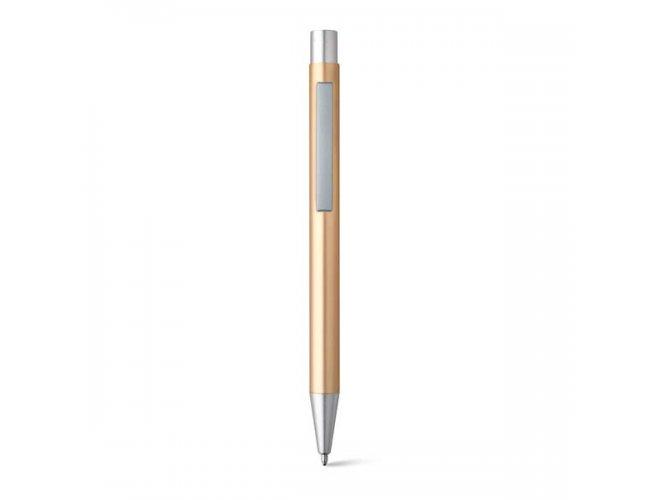 Caneta Esferográfica. Alumínio - Modelo INF 51125 Dourada