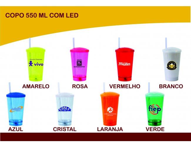 Copo com LED 550ml - Modelo INF 0043