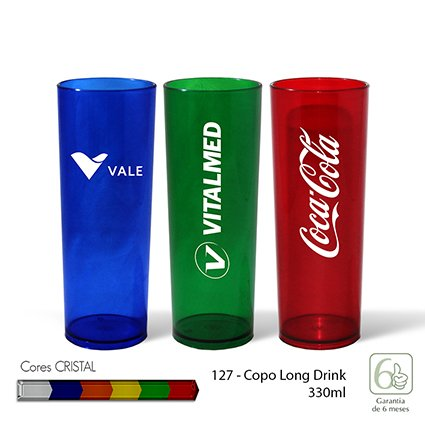Copo Long Drink 330ml Cristal INF 127