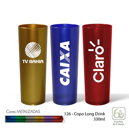Copo Long Drink 330ml Metalizado - INF 126
