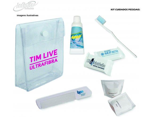 Kit Amenities - Shampoo, Sabonete, Escova, Pasta, Pente Mod INF 238K