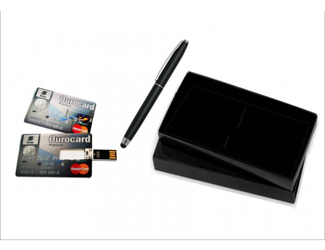 Kit Caneta Touch  e Pen drive Card - Modelo INF 10107