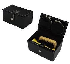 Kit Engraxate estojo de Couro sintético com 5 peças - Modelo INF 17231