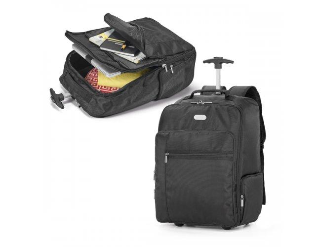 """Mochila trolley para notebook. 1680D e 300D. Com 2 rodas - Modelo INF 92177   17 """""""