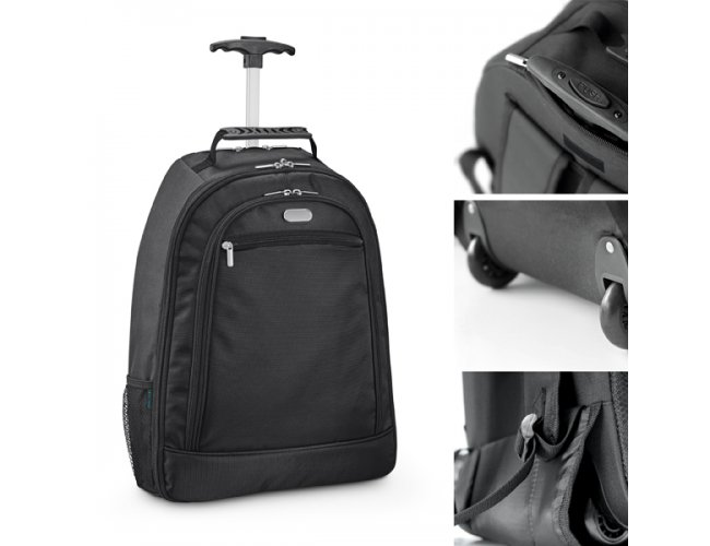 """Mochila trolley para notebook. 1680D e 300D. Com 2 rodas. - Modelo INF 92283  15,6"""""""