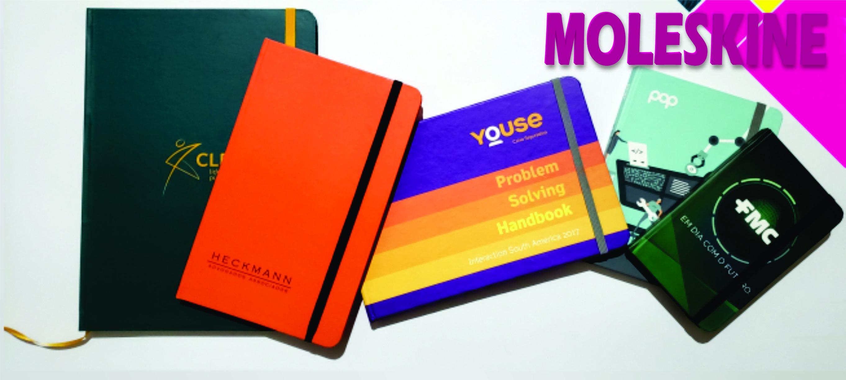 o Cadernos tipo moleskine