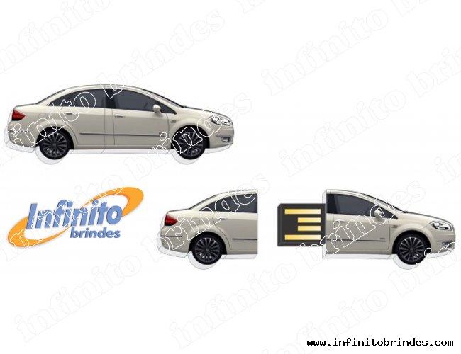 Pen drive Estilizado em acrílico - Modelo INF 10101 - Formato Carro