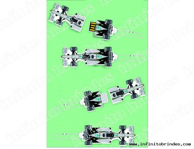 Pen drive Estilizado em acrílico - Modelo INF 10101 Formula 1