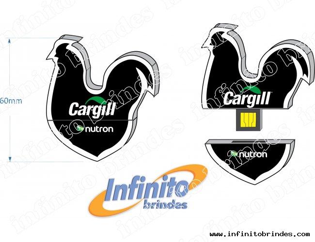 Pen drive Estilizado - Modelo INF 10101 - Galinho
