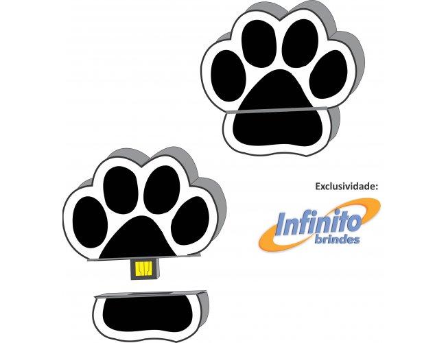 Pen Drive Estilizado - Modelo INF 10101 - Pata de Cachorro Pet