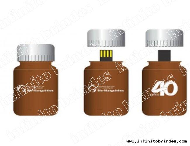 Pen drive Estilizado - Modelo INF 10101  tubinho Bio Manguinhos