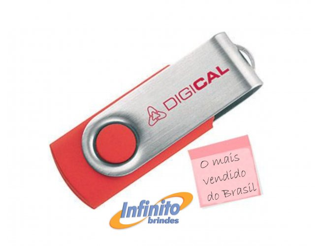 Pen drive Giratório - Modelo INF F126 Capacidade 8Gb