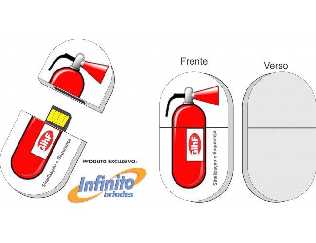 Pen drive ESTILIZADO - Modelo INF 10101 extintor