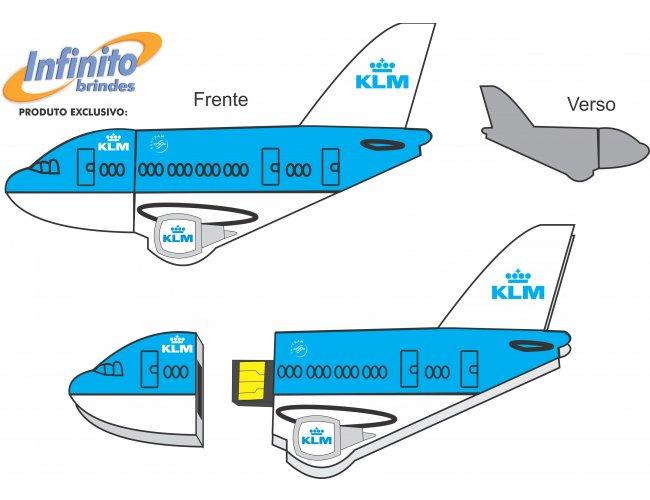 Pen drive ESTILIZADO - Modelo INF 10101 Cias aéreas
