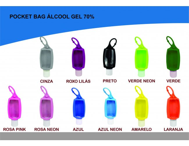 Porta Álcool Gel Pocket bag 35ml - Modelo DEC 318