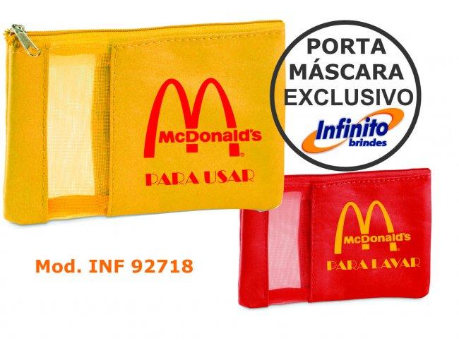 Kit Porta Máscara Usar e Lavar - Modelo INF 299