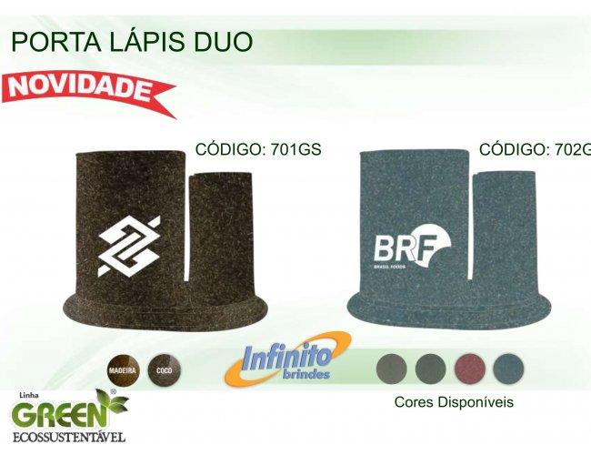 Porta Lápis Duo - Modelo INF 0701G  Duplo GREEN ECOSSUSTENTÁVEL
