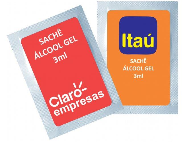 Sache de Álcool Gel 3ml Personalizado Modelo INF 283
