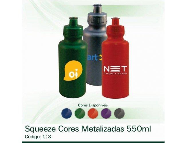 Squeeze Cores Metalizadas 550ml Modelo INF 0113