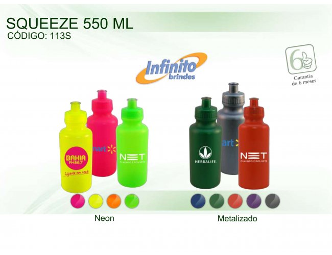 SQUEEZE PLÁSTICO (550ml) - INF 0113