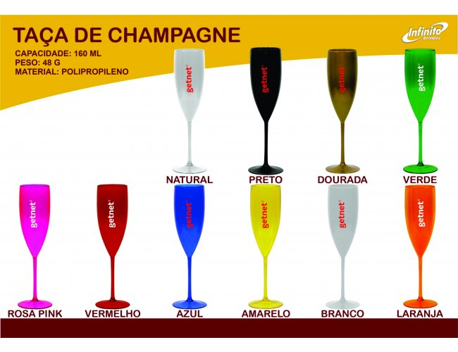 Taça de Champagne 160ml - Modelo INF 0020T