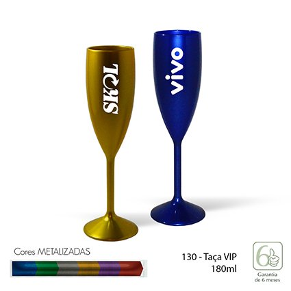 Taca VIP 180ml Metalizado INF 130